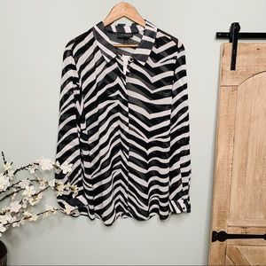 Lane Bryant Sheer Zebra Tunic NWT Size 26/28
